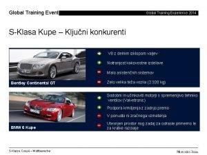Global Training Events Global Training Experience 2014 SKlasa