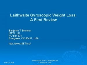 Laithwaite Gyroscopic Weight Loss A First Review Benjamin