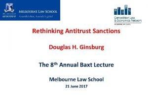 Rethinking Antitrust Sanctions Douglas H Ginsburg The 8