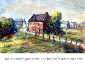 One of Hitlers postcards Too bad he failed