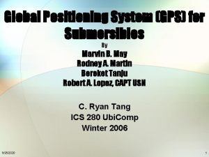 Global Positioning System GPS for Submersibles By Marvin