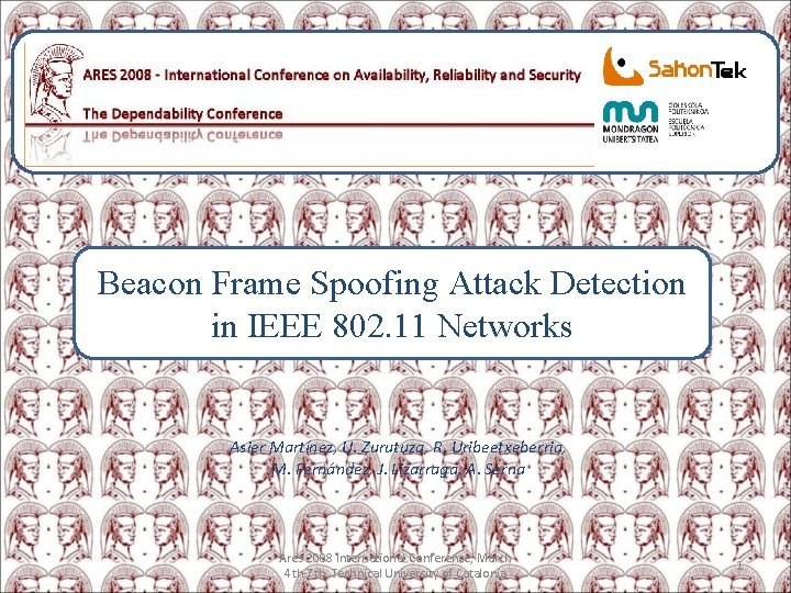 Beacon Frame Spoofing Attack Detection in IEEE 802