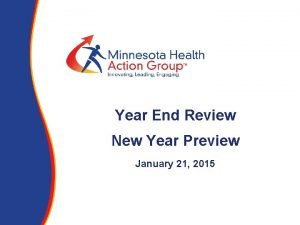 Year End Review New Year Preview January 21