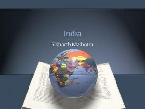 India Sidharth Malhotra Agenda India An Overview Book