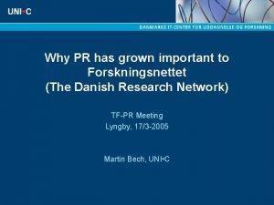 Why PR has grown important to Forskningsnettet The