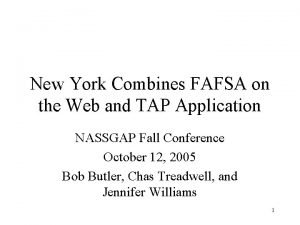 New York Combines FAFSA on the Web and