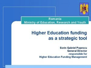 Romania Ministry of Education Research and Youth Higher