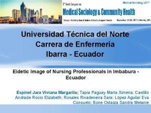 Universidad Tcnica del Norte Carrera de Enfermera Ibarra
