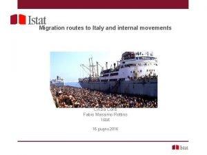 Indagine sulle seconde generazioni 2015 Migration routes to