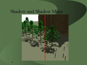 Shadow and Shadow Maps 5 What kind of