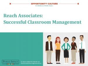 Reach Associates Successful Classroom Management To copy or