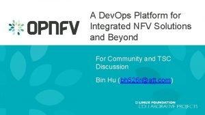 A Dev Ops Platform for Integrated NFV Solutions
