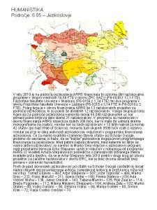 HUMANISTIKA Podroje 6 05 Jezikoslovje V letu 2010