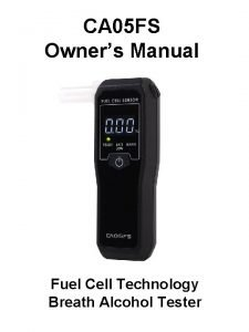CA 05 FS Owners Manual Fuel Cell Technology