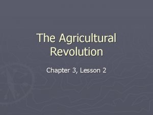 The Agricultural Revolution Chapter 3 Lesson 2 Neolithic