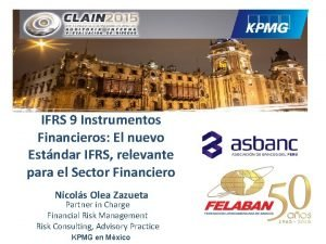IFRS 9 Instrumentos Financieros El nuevo Estndar IFRS