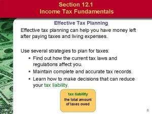 Section 12 1 Income Tax Fundamentals Effective Tax