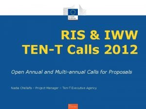 RIS IWW TENT Calls 2012 Open Annual and