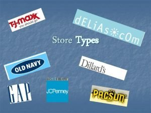 Store Types Department Store n n Offers lines