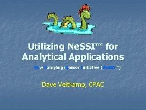 Utilizing Ne SSI for Analytical Applications New SamplingSensor