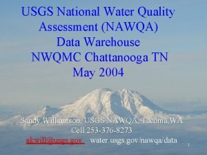USGS National Water Quality Assessment NAWQA Data Warehouse