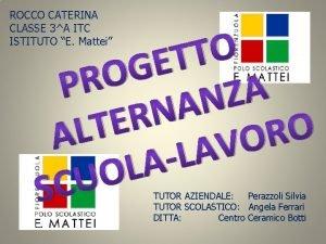 ROCCO CATERINA CLASSE 3A ITC ISTITUTO E Mattei