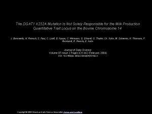 The DGAT 1 K 232 A Mutation Is