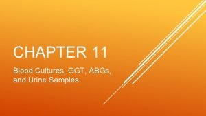 CHAPTER 11 Blood Cultures GGT ABGs and Urine