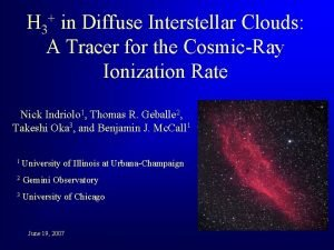 H 3 in Diffuse Interstellar Clouds A Tracer