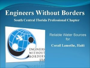 Engineers Without Borders South Central Florida Professional Chapter