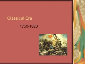 Classical Era 1750 1820 Viennese Classical Style n