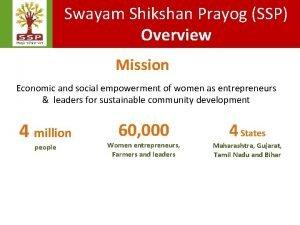 Swayam Shikshan Prayog SSP Overview Mission Economic and