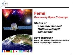 Fermi Gammaray Space Telescope Status of ongoingplanned Multiwavelength