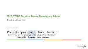 2016 DTSDE Surveys Morse Elementary School Results and