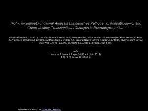 HighThroughput Functional Analysis Distinguishes Pathogenic Nonpathogenic and Compensatory