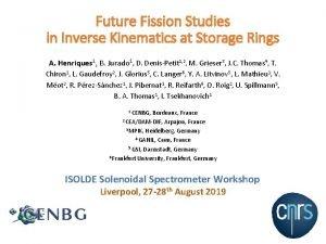 Future Fission Studies in Inverse Kinematics at Storage
