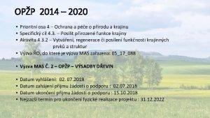 OPP 2014 2020 Prioritn osa 4 Ochrana a