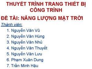 THUYT TRNH TRANG THIT B CNG TRNH TI