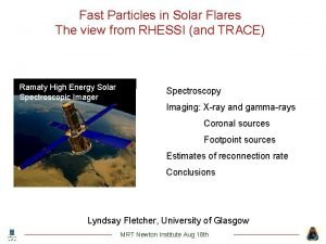 Fast Particles in Solar Flares The view from