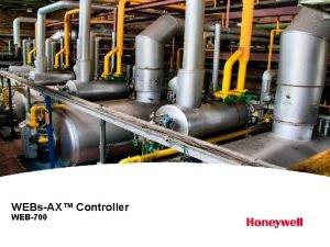 WEBsAX Controller WEB700 WEBsAX Series 7 Controller WEBsAX