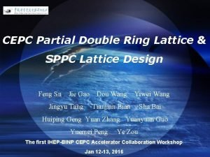 LOGO CEPC Partial Double Ring Lattice SPPC Lattice