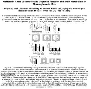 Metformin Alters Locomotor and Cognitive Function and Brain