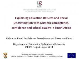 Explaining Education Returns and Racial Discrimination with Numeric