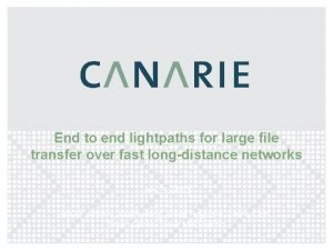 End to end lightpaths for large file transfer