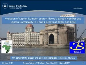 Violation of Lepton Number Lepton Flavour Baryon Number