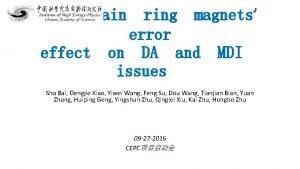 CEPC main ring magnets error effect on DA