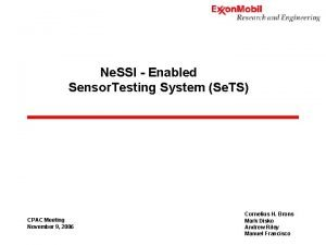 Ne SSI Enabled Sensor Testing System Se TS