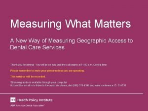 Measuring What Matters A New Way of Measuring