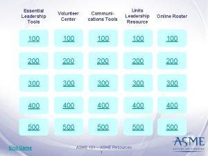 Essential Leadership Tools Volunteer Center Communications Tools Units