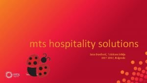 mts hospitality solutions Saa orevi Telekom Srbija SEET